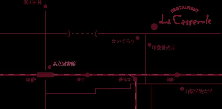 キャセロール アクセスマップ